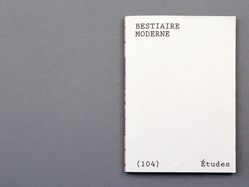Bestiare moderne - Booklet Études & composition 01