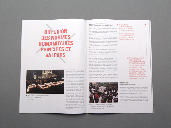 Croix Rouge – Annual Report spreads 01