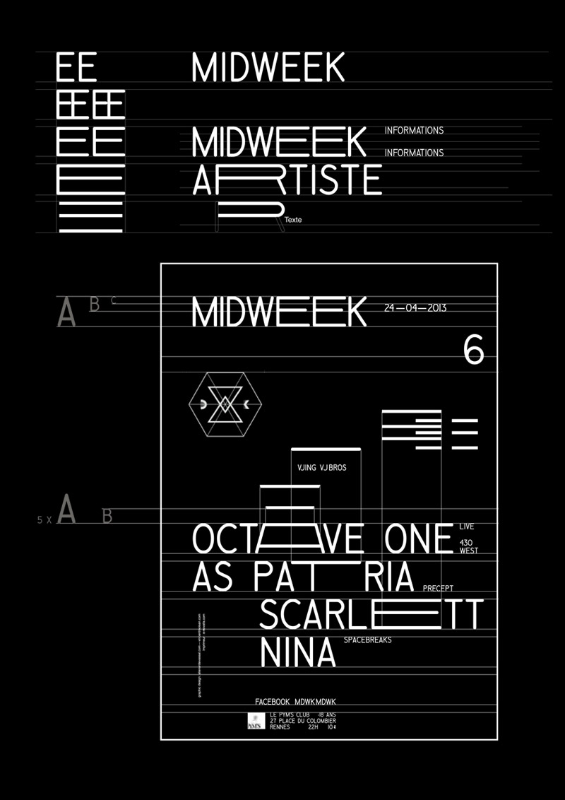 Midweek - poster layout guidelines